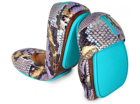 5. Tieks, the world's chicest and most comfortable flats, in a rad new pattern and color (Lilac Snake)