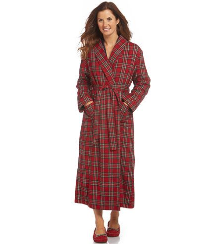 4. A super warm flannel robe in Tartan and fleece, L.L. Bean $89