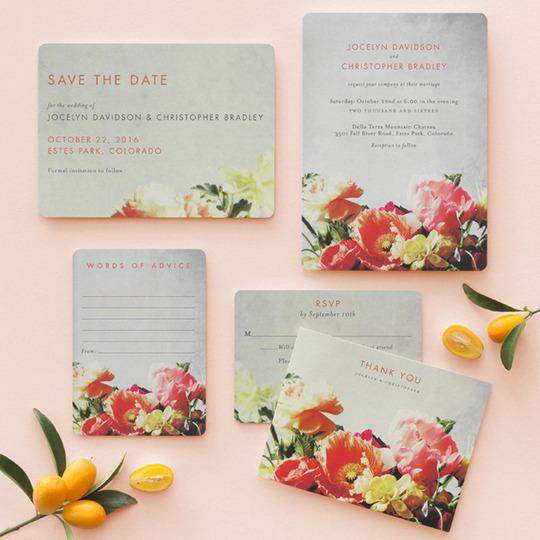 BHLDN Invitations for Wedding Paper Divas - Breathtaking Blooms // Detailed & Delighted